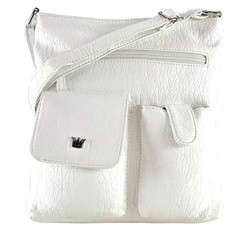 Purse King Colt Concealed Carry Handbag (White/French Vanilla)