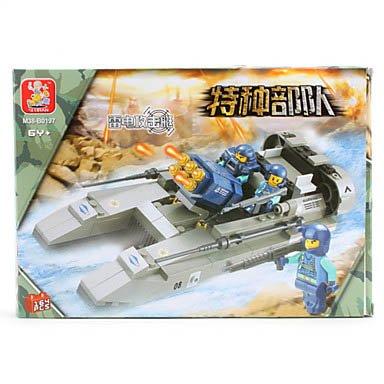 3D Diy Puzzle Special Force Car Building Blocks Bricks Toy Sets (164Pcs, M38-B0197)