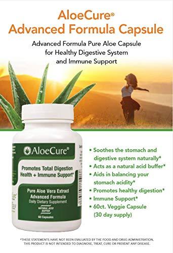 AloeCure Advanced Formula - Twice a Day Aloe Vera Capsule 60 capsules by AloeCure (Image #2)