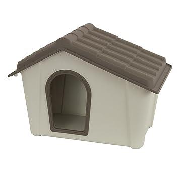 Caseta Casa de resina para perros gatos de exterior jardín Mini 56, 5 x 39 x 44h cm: Amazon.es: Jardín
