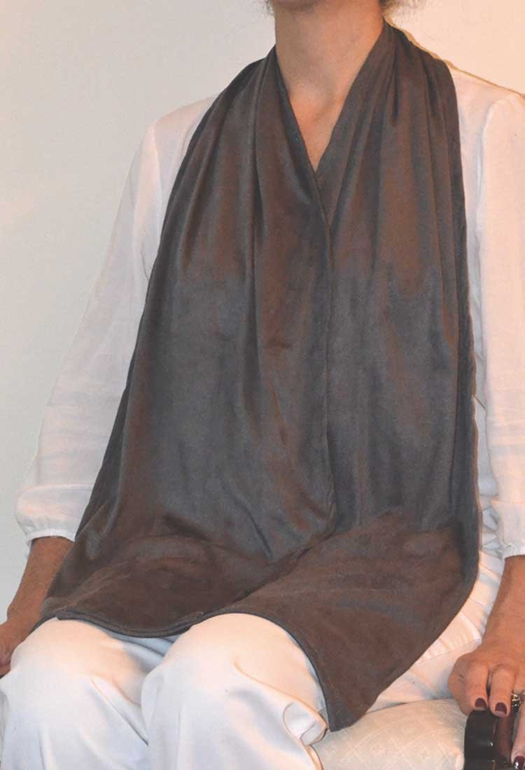 DinerWear Adult Bib Dining Scarf Large- Cravaat X (Soft Black)