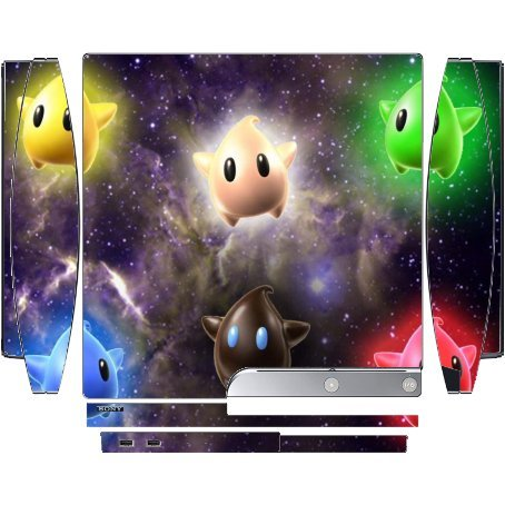 Cute Galaxy Stars Playstation 3 & PS3 Slim Vinyl Decal Sticker Skin by Demon Decal (Playstation 3 Super Mario)