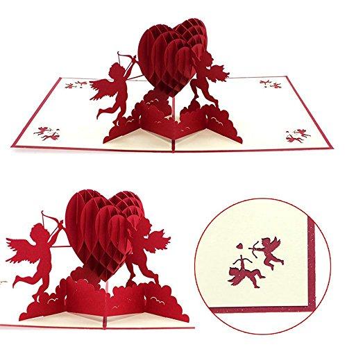 Black Sale Friday Deals Cyber Deals Monday Deals Sales 2018-3D Pop Up I Love Mom Handmade Luck Best Wish Greeting Card Kirigami Paper Craft (Heart)
