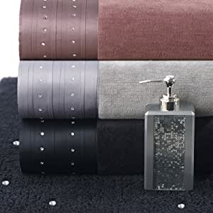 Starstruck Embellished Bath Collection - Hand Towel - Grey