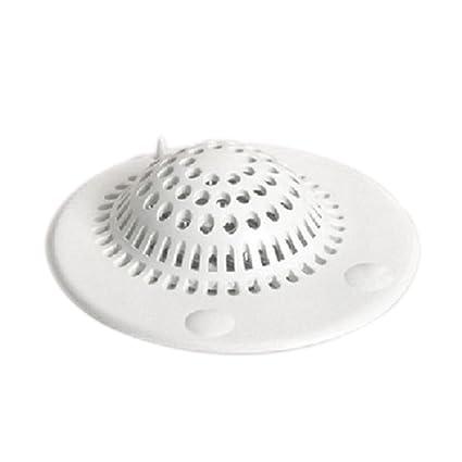 Da.Wa Abflußsieb Dusche Abfluss Abdeckung Ablassen Runde Silikon-Abdeckung,Küche Spüle Sieb,(9.8x9cm,Set of 1)