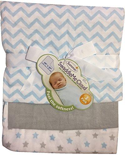 Summer Infant SwaddleMe Cloud Swaddling Blankets 3-Pack