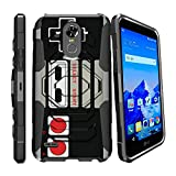 MINITURTLE Case Compatible w/ [Armor Reloaded] Compatible w/ [ LG Stylo 3, LG Stylo 3 Plus, 2017] Shockproof Hybrid Stand Case Heavy Duty Rugged Swivel Armor Case [MINITURTLE] Game Controller Retro