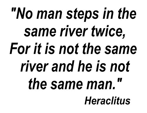 Inspirations by Phoenix Vinyl Wall Decal No Man Steps in The Same River Twice It is Not The Same River He is Not The Same Man. (Black) (No Man Steps In The Same River Twice)