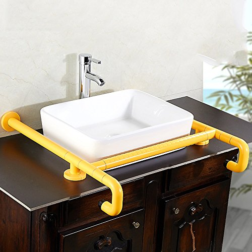 Yellow Handrails - WENBO HOME- Countertop Basin Handrail Nylon Legs Safety Handrail Washbasin Armrest Handicapped Handicapped Handrail Bathroom Toilet ( Color : Yellow )