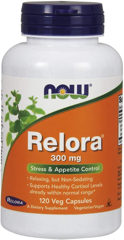 NOW Supplements, Relora 300 mg (a Blend of Plant Extracts from Magnolia officinalis and Phellodendron amurense), 120 Veg Capsules