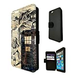 430 - Alice in wonderland Doctor Who Tardis Call Box Design Fashion Trend TPU Leather Flip Case For Apple iPhone 5/5S Full Case Flip TPU Leather Purse Pouch Defender Stand Cover