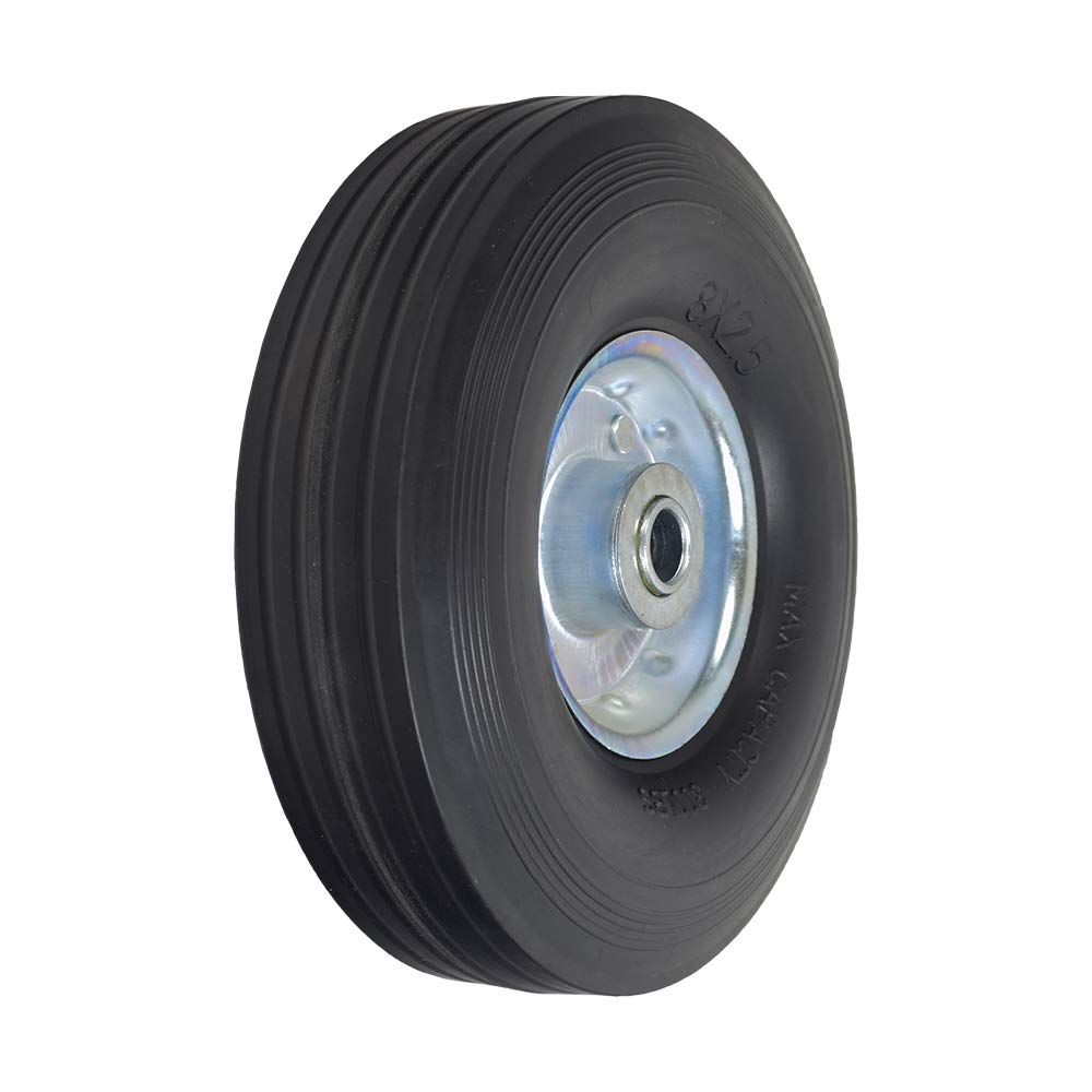 AlveyTech 8'' Utility Wheel Assembly with a Solid Rubber Tire for Dollies, Wagons, Carts by AlveyTech