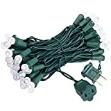 Brizled Faceted LED Christmas Lights, 50 LED 16.3ft Mini String Lights, 120V UL Certified G10 Fairy Lights for Indoor and Outdoor, Mothers Day, Patio, Lawn, Garden and Party Decorations, Warm White