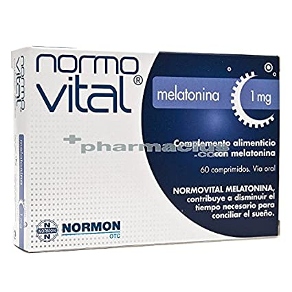 NORMOVITAL MELATONINA 1 MG 60 COMP: Amazon.es: Salud y cuidado personal