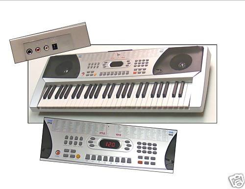 54 Keys Keyboard Student Electronic Digital Piano - Silver -
