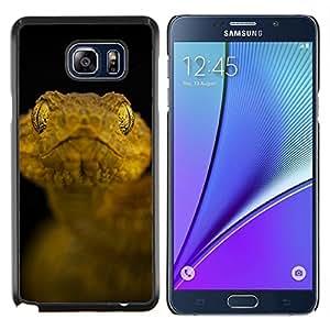 LECELL--Funda protectora / Cubierta / Piel For Samsung Galaxy Note 5 5th N9200 -- Negro Serpiente amarilla Macro Close Up Naturaleza --