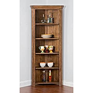 Sunny designs corner curio cabinet kitchen for Amazon kitchen cabinets