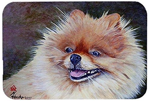 Carolines Treasures MH1056LCB Pomeranian Head Glass Cutting Board Multicolor Large