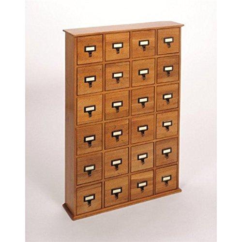 Leslie Dame 288 CD Storage Cabinet in Walnut