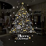 Ruimin 3PCS Christmas Window Clings Decal Wall Stickers White Ornament Wall Decal