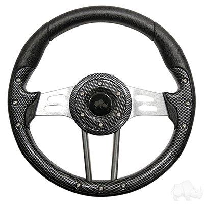(Steering Wheel, Aviator 4 Carbon Fiber Grip/Brushed Aluminum Spokes 13