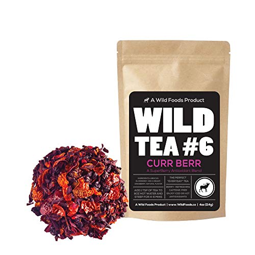 - Berry Blend Herbal Tea with Hibiscus, Elderberry, Currant and Cranberry Loose Leaf Herbal Tea by Wild Foods Co (8 ounce)