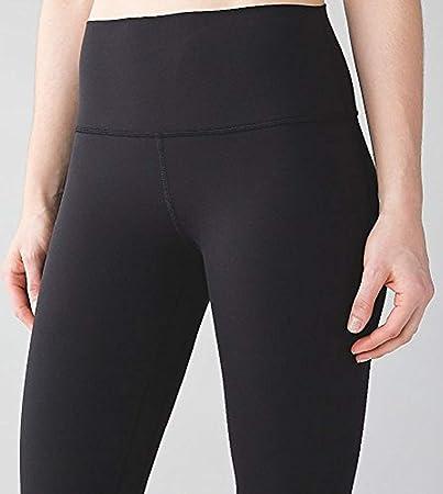lululemon Wunder bajo Crop Pantalones de Yoga Negro Wee Son ...