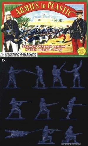 AIP French Foreign Legion Infantry ' North Africa 1900': 20pc 54mm Plastic Army Men Figures