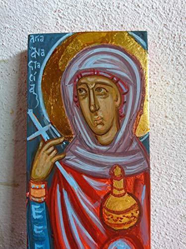Byzantine icon of Saint Anastasia hand-painted Greek orthodox icons and Holy iconography of Greece