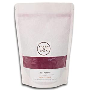 Fresh & Wild | Raw Plant-Based Beet Powder | All Natural Food Coloring, Vegan Friendly, Mild & Sweet Superfood for Baking, Cooking, Smoothies, and More | 1 lb. | Gourmet, Chef-Inspired Ingredients