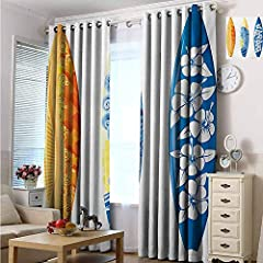 This set includes two printed window processing panels.   Made of 100% polyester.  If you need to block more than 95% of the sun during the day, it can prevent harmful UV rays from escaping from your floor and furniture.  The quality of our c...