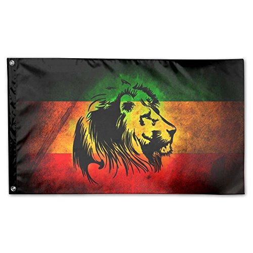 Rasta Single (MoningV Rasta Lion Judah Decorative Flag House Flag Yard Banner 3' X 5')