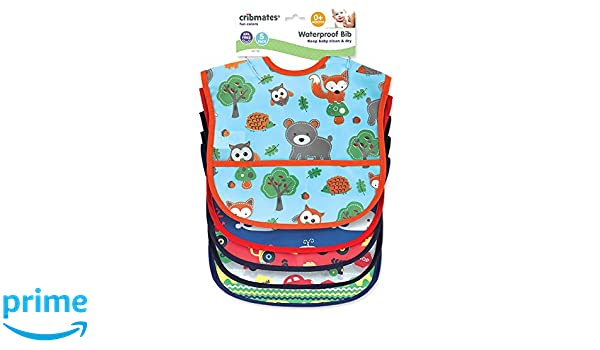 Cribmates Bib PEVA 5 Piece Easy wipe Clean Baby Baby Boys