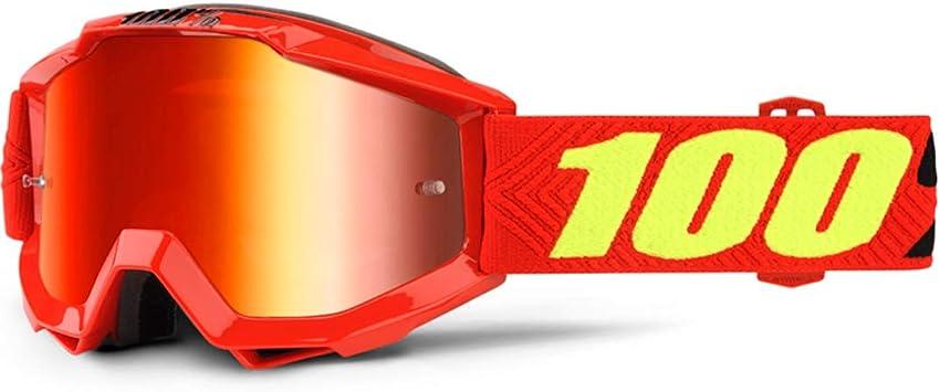 100/% Strata Youth Goggles Orange w//Blue Lens KIDS