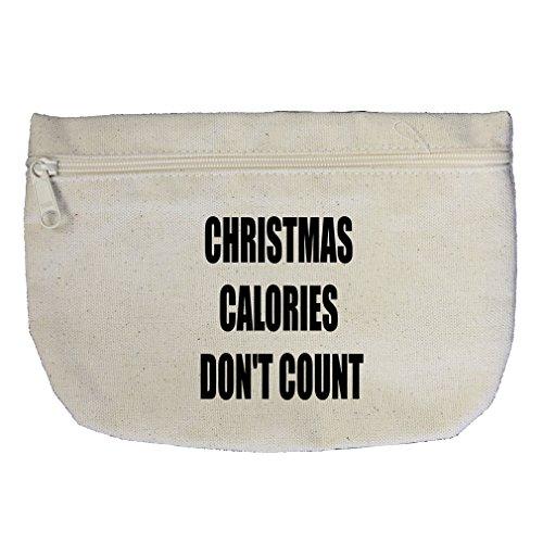 on'T Count Canvas Makeup Bag Zippered Pouch (Calorie Pouch)