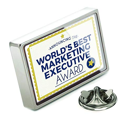 NEONBLOND Lapel Pin Worlds Best Marketing Executive Certificate Award