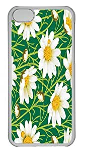 IMARTCASE iPhone 5C Case, Daisy Summer Digital Art PC Hard Case Cover for Apple iPhone 5C Transparent