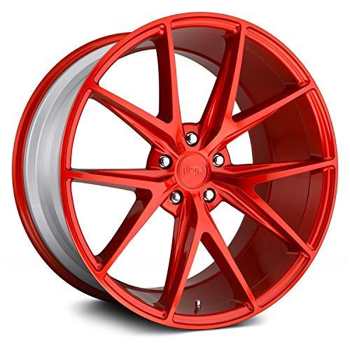 Niche M186 Misano 18x8 5x114.3 +40mm Candy Red Wheel Rim