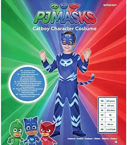 Amscan - Disfraz de Gatuno (PJMasks) - 9902953 - Color azul