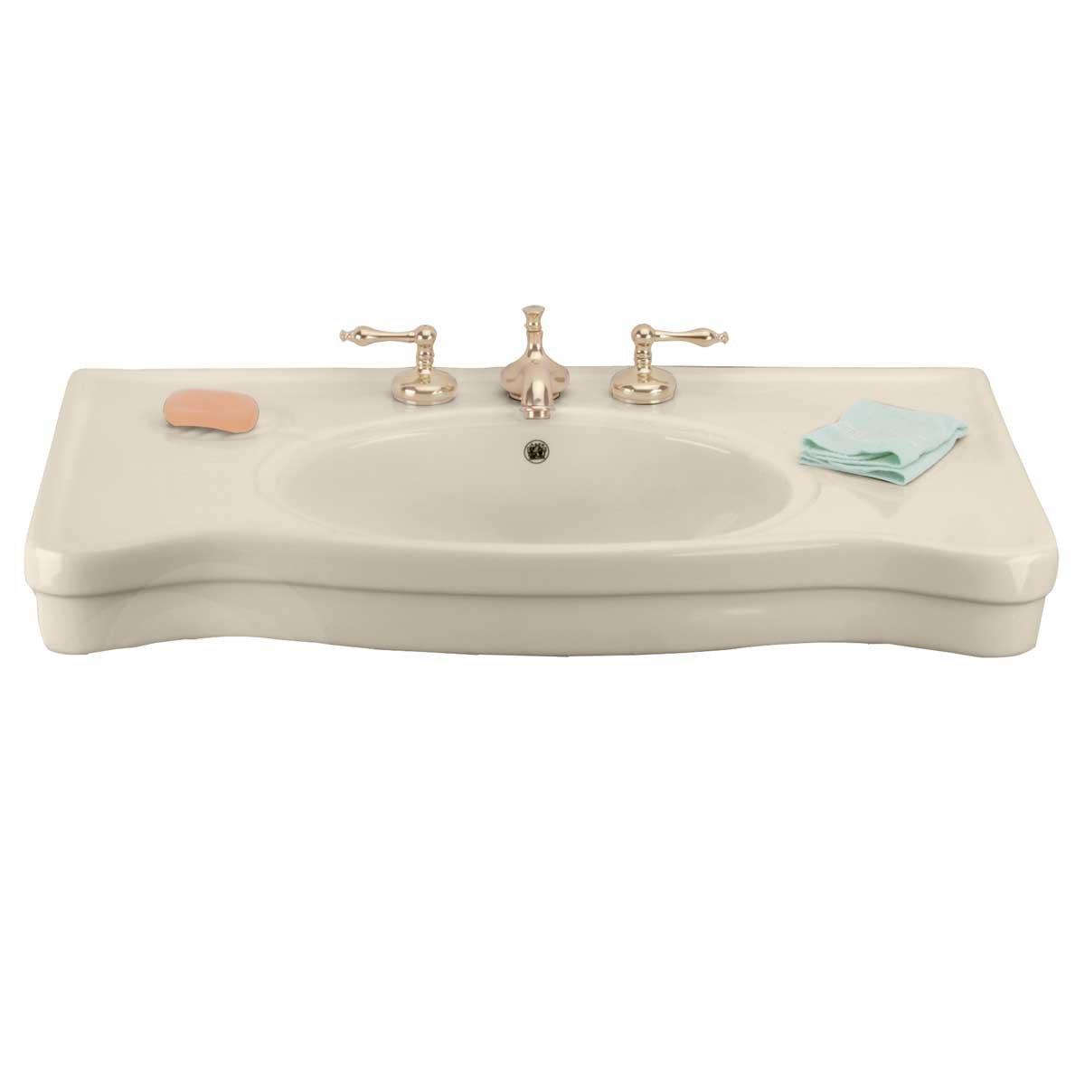 ''Belle Epoque'' Bone China Console Sink 8'' Centerset Faucet Hole European Luxury Style