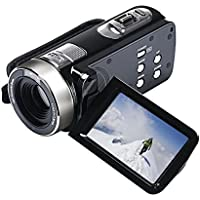 Camera Camcorders, Celendi Portable 1080P IR Night Vision 24MP 16X Digital Zoom Video Camcorder with 3 LCD and 270 Degree Rotation Touch Screen