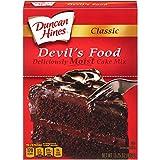 Duncan Hines Classic Devils Food Cake Mix, 15.25 Ounce - 12 per case.