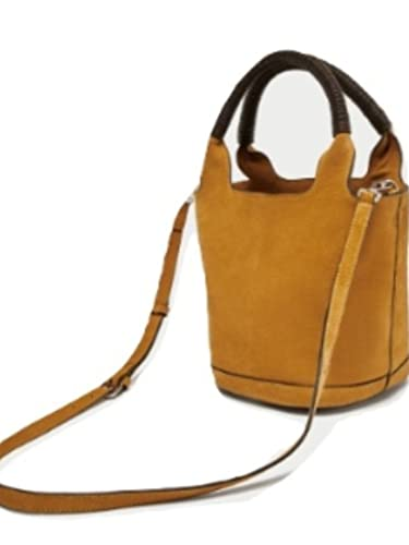 48570384bf Image Unavailable. Image not available for. Color: Zara Split Suede midi tote  bag ...