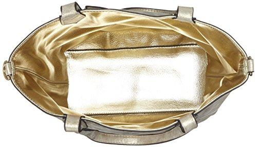 Marco Tozzi 61004 - Carteras de mano con asa Mujer Beige (Platinum Comb)