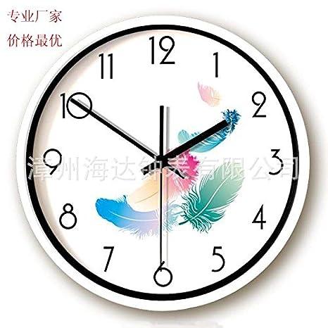 lilia Relojes minimalistas y creativo reloj mudo gráficos murales de salón del reloj del arte moderno: Amazon.es: Hogar