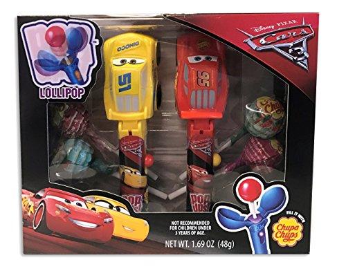 Disney Pixar Cars 3 Lightning McQueen Cruz Pop Ups Chupa Chups Lollipop Gift Set Disney Cars Candy
