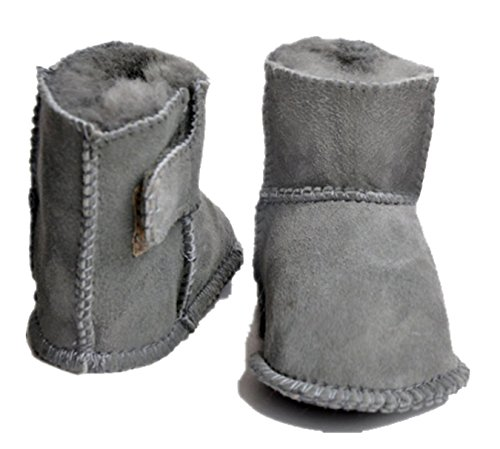 Sheepskin Baby Booties (Exdream Baby Boots Girls' Boys' Winter Sheepskin-wool Snow Bootie Shoe 4 M US Toddler Grey)