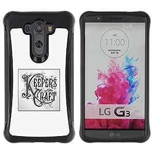Suave TPU GEL Carcasa Funda Silicona Blando Estuche Caso de protección (para) LG G3 / CECELL Phone case / / Keepers Craft Poster Handicraft Diy /