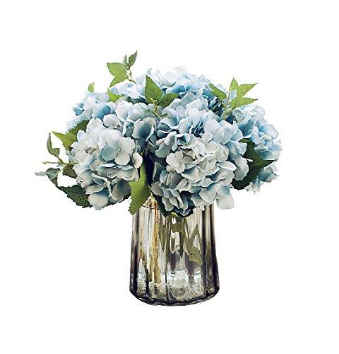 Best Quality 5pcs Hydrangea Bouquet Flower Artificial Silk Hydrangea Flowers for Living Room Home Decor/Weding Decor/Flower Carpet/Weding Backdrop