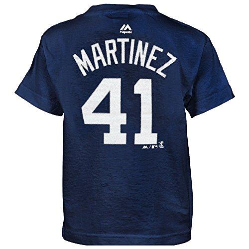 Outerstuff J.D. Martinez MLB Majestic Detroit Tigers Player Jersey Navy T-Shirt Boys (4-7)
